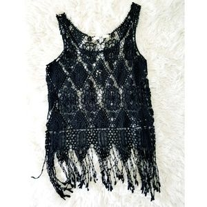 YA LOS ANGELES  CROCHET TOP